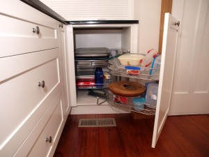 Magic corners, pullouts, revolving shelves ...
